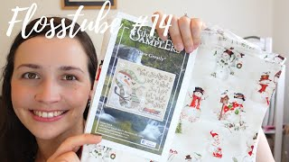 FLOSSUBE #14  NEW START FOR JOLLY JULY, A SUPRISE FINISH AND LOTS OF FABRIC HAUL