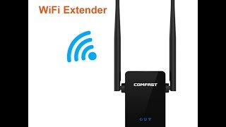 comfast wi fi range extender amplifier 300mbps wireless n signal booster repeater with ethernet port