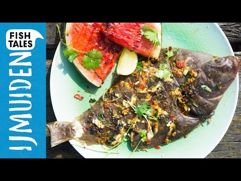 Whole BARBECUED PLAICE Flatfish | Bart Van Olphen