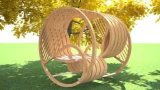 видео Малые архитектурные формы для дачи из дерева, бетона, металла