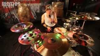 Robin Guy gives Rhythm Magazine a tour of his Natal and Sabian set-up