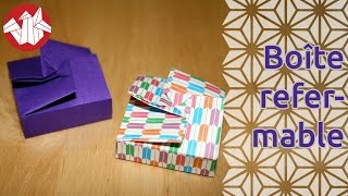 Origami - Boîte refermable - Resealable box [Senbazuru]