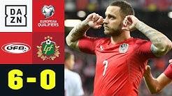 Arnautovic führt Österreich zum Kantersieg: Österreich - Lettland 6:0 | EM-Quali | DAZN Highlights