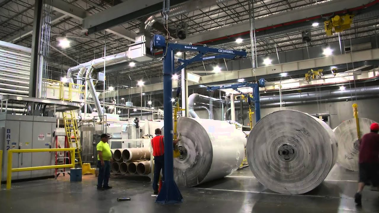 Easy Arm Roll Handling For Paper Manufacturer Youtube