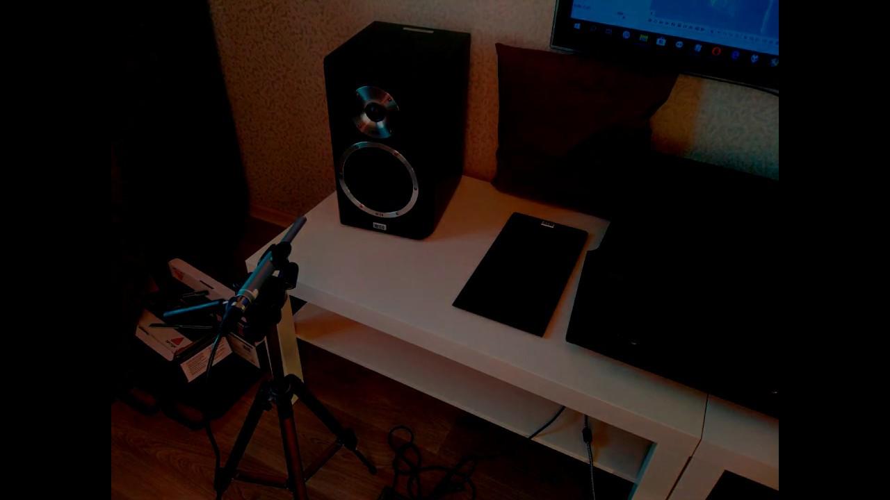 Запись звучания HECO Elementa 300 на 2 измерительных микрофона Behgringer ECM8000
