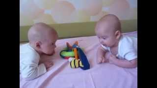 funny baby videos 2015 twins talking | fun babies video | cute twin babies playing