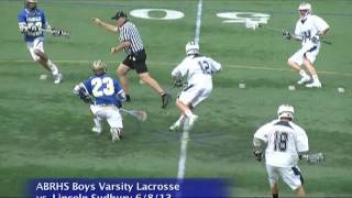 Acton Boxborough Varsity Boys Lacrosse @ L S 6/8/13