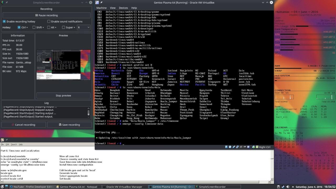 How to install Gentoo 64bit + Plasma 5 + Sound (ALSA and Pulseaudio)  complete