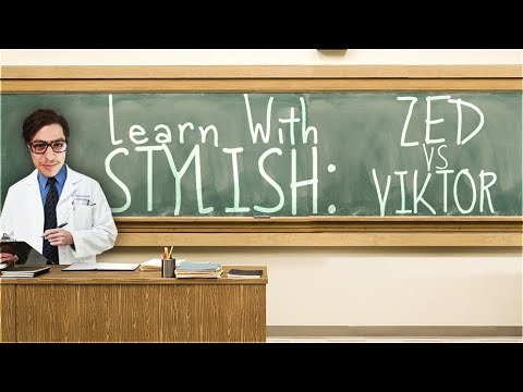 LEARN WITH STYLISH | IN DEPTH GAME COMMENTARY - ZED VS VIKTOR