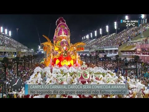 Campeã do Carnaval do Rio será conhecida hoje (14) | SBT Brasil (13/02/18)