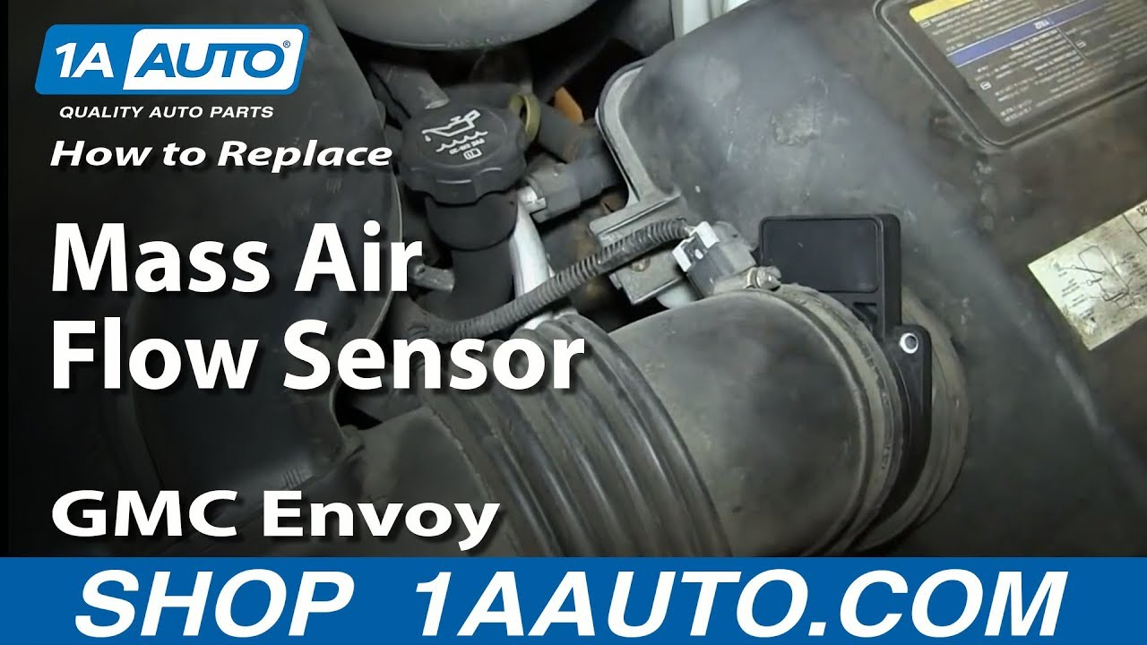 how to install repalce maf mass air flow sensor v8 5 3l gmc envoy and xl xuv youtube [ 1920 x 1080 Pixel ]