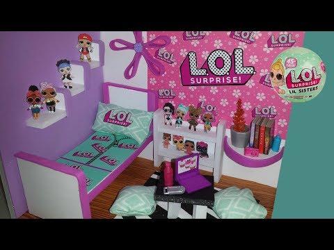 DIY LOL Surprise Doll Room + Make your own Paper LOL Dolls