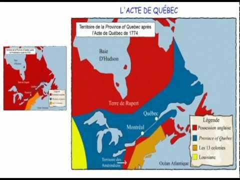 11- Le régime anglais - Proclammation royale et Acte de Québec