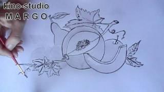 Маргарита Майская видео. урок рисованния (русская озвучка)