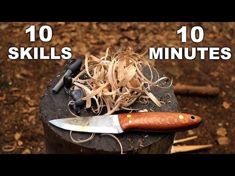 10 Bushcraft Knife Skills in 10 Minutes