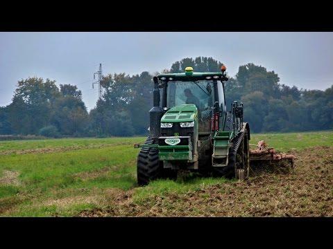 John Deere 8360 RT & 2x New Holland T7040 (Oragro) hnojenie 2014