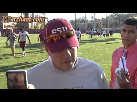 Jimbo Fisher post practice interview