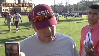 Jimbo Fisher post practice interview