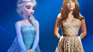 Repeat youtube video Let It Go - Idina Menzel & Lea Michele  [HD FULL SONG]