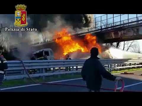 Video dell'incidente Autostrada A21