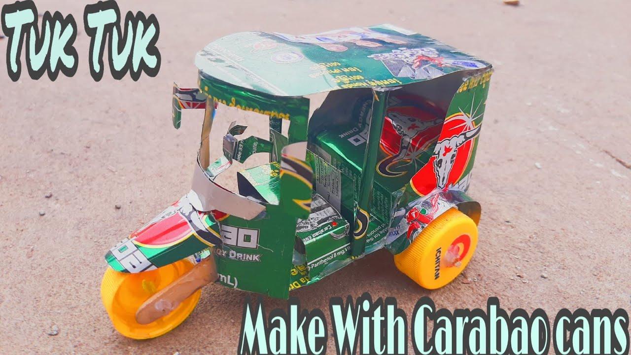Download Make tuk tuk with DC Motor and Carabao cans   How To Make An Electric Rickshaw (Tuk Tuk )
