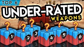 TOP 6 Most UNDERRATED Weapons in PUBG Mobile