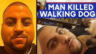 Man walking dog fatally shot by stray bullet in NYC