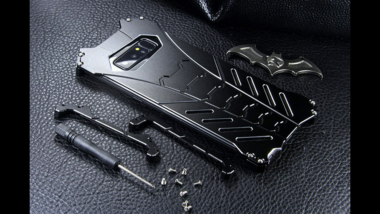 promo code 730f2 82912 Batman Metal Aluminum Shockproof Stand Case For Note 8 lst Look !