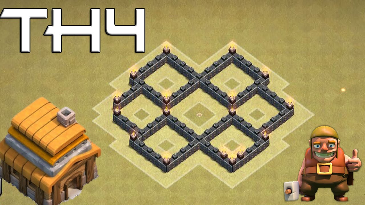 Base Coc Th 4 War 11