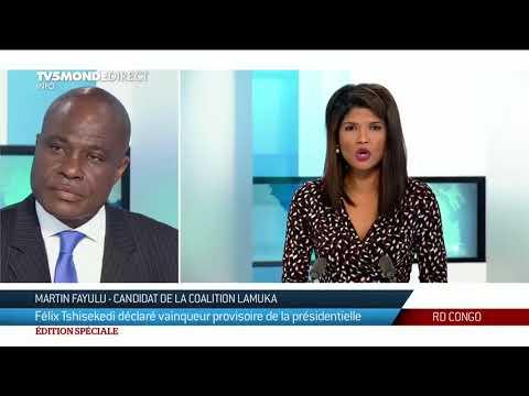 Présidentielle RDC - Martin Fayulu ne reconnaît pas les résultats de l
