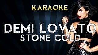Demi Lovato - Stone Cold | Karaoke Instrumental Lyrics Cover Sing Along