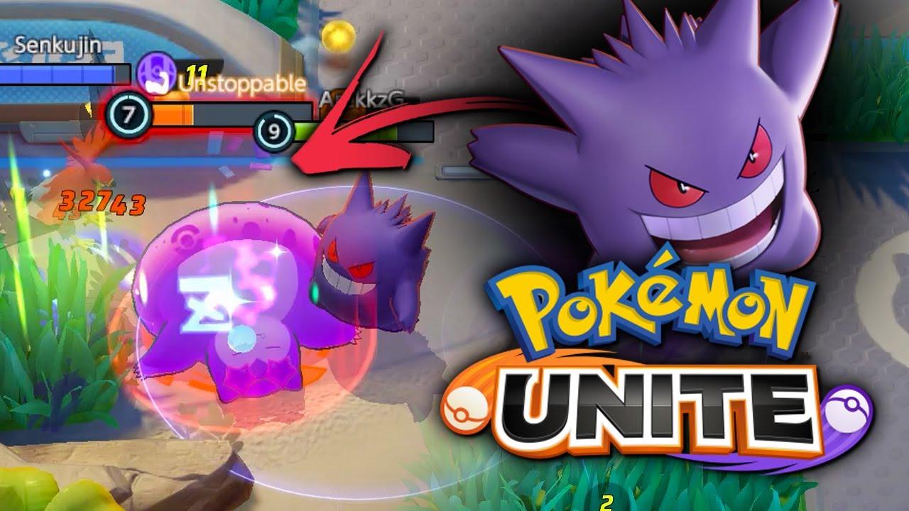 GENGAR DESTROYS EVERYTHING in Pokemon Unite! Full Match Gameplay