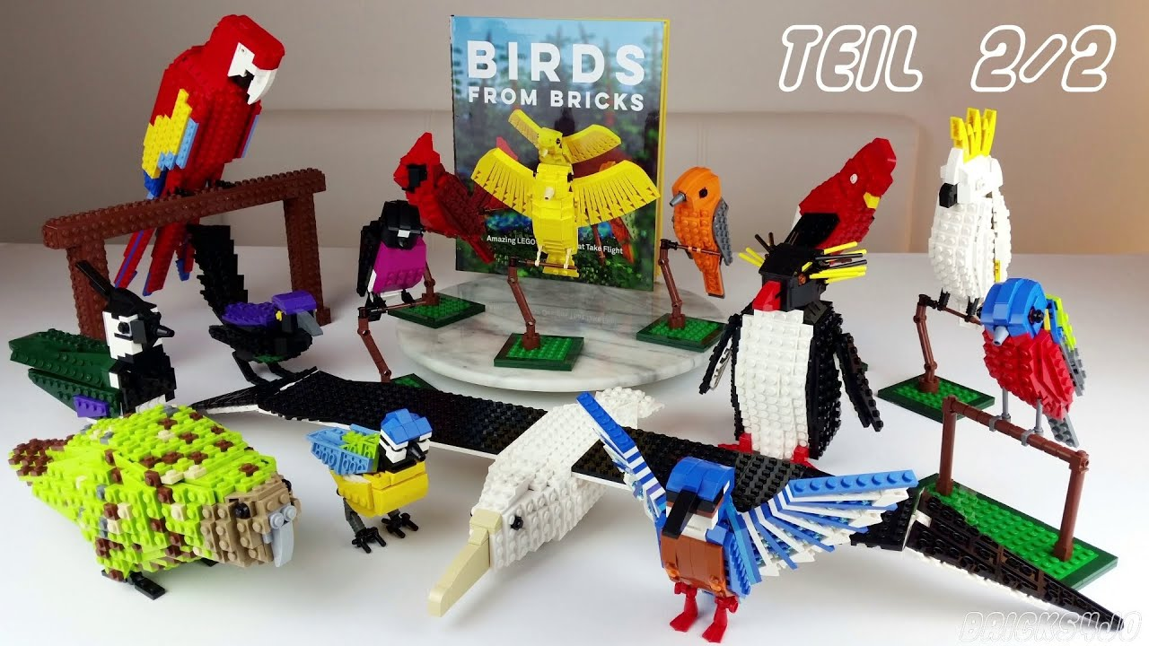 birds from bricks v gel aus lego 2 2 modelle buch review deutsch youtube. Black Bedroom Furniture Sets. Home Design Ideas