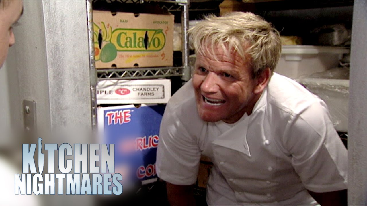 They 39 re mouldy you pillock kitchen nightmares youtube for Q kitchen nightmares