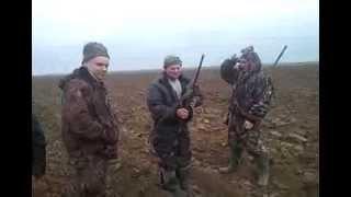 Охота на зайца в Калмыкии