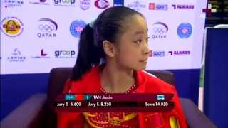 TAN Jiaxin 谭佳薪, Gold on Uneven Bars, FIG Challenge Cup, Doha 2013
