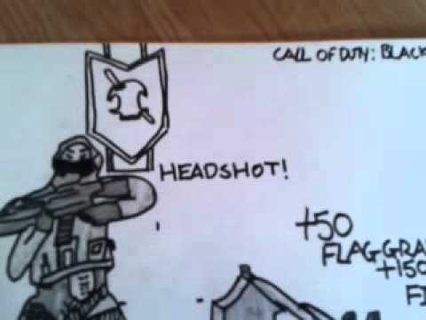 Black Ops 2 Fps Capture The Flag Drawing Youtube