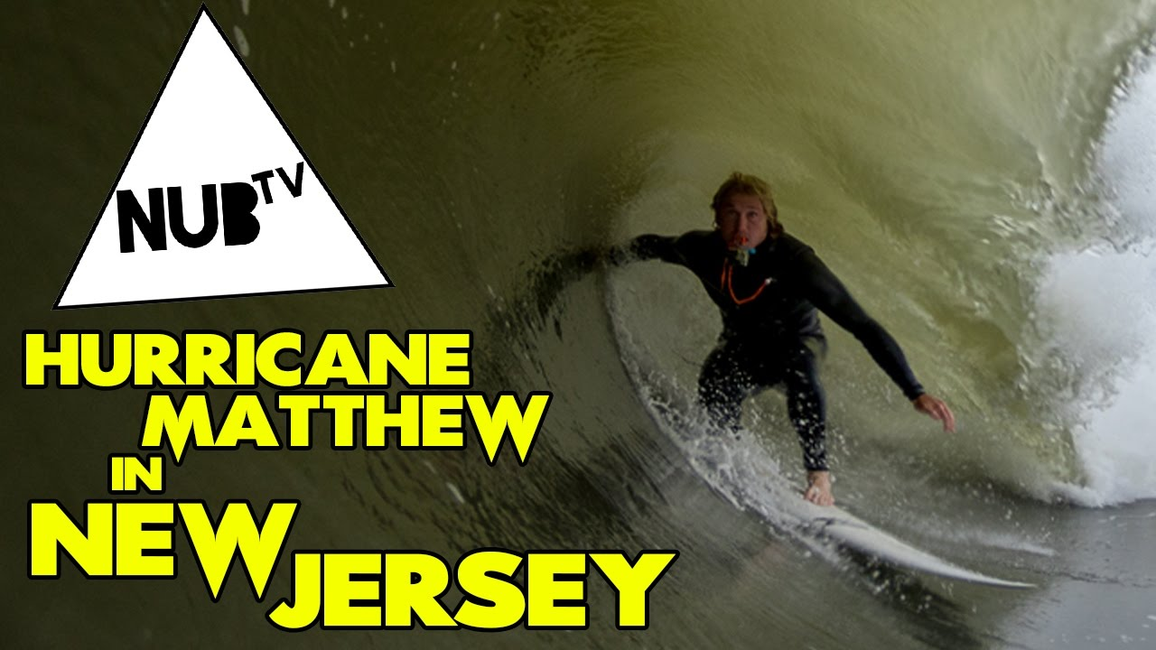 Surfing Hurricane Matthew in New Jersey
