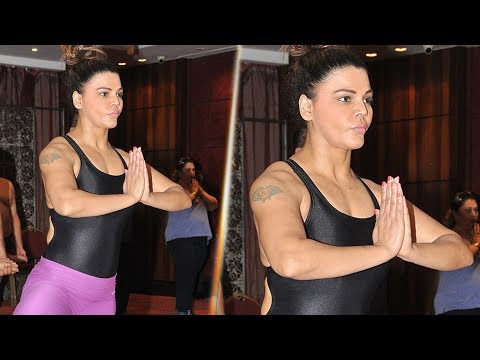 WATCH-Rakhi Sawant's H0T Yoga | International World Yoga Day | Full Video