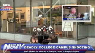 FNN: Press Conference on Deadly Mass Shooting at Umpqua Community College in Oregon