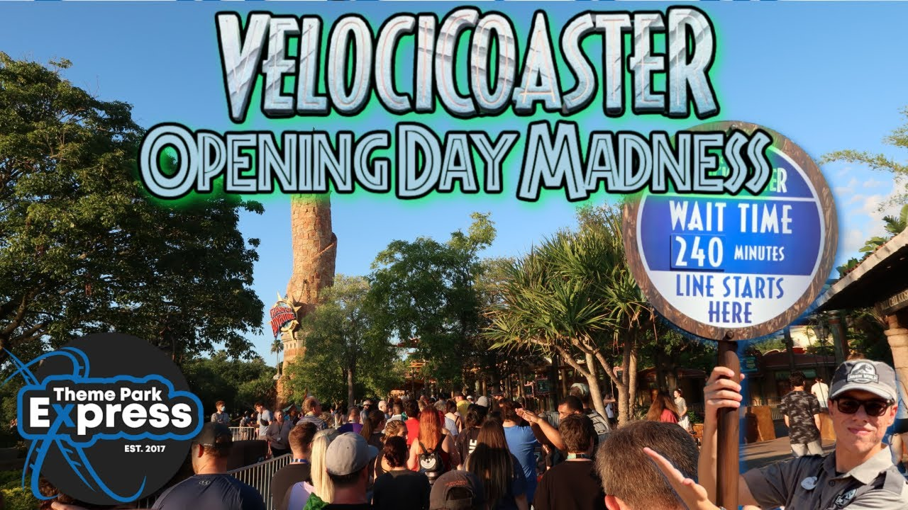 THIS GRAND OPENING SHOCKED ME! VelociCoaster Opening Madness! Running, Long Lines & Crazy Wait Times