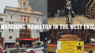 GOING ONSTAGE AT HAMILTON MUSICAL WEST END! | Georgie Ashford