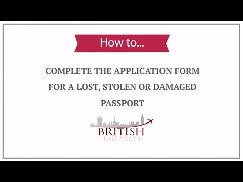 Lost Stolen Or Damaged Passports How To Complete The Application