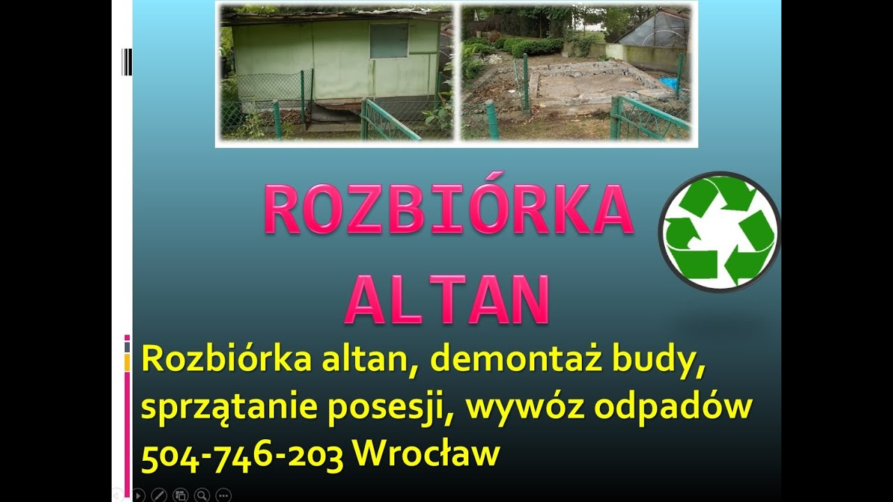 Rozbiórka Wiaty Cena Tel 504 746 203 Wrocław Demontaż Altany Rozebranie Wiaty Komórki