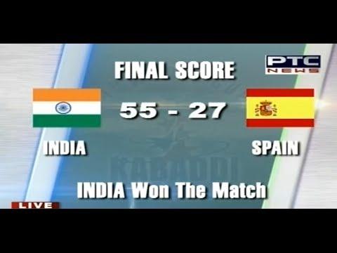 India vs Spain  Men's  Day 3  Pearls 4th World Cup Kabaddi Punjab 2013