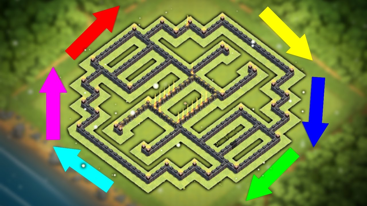 """New """"UNBEATABLE"""" Town Hall 9 Base Design (Th9) Trophy/War ..."""