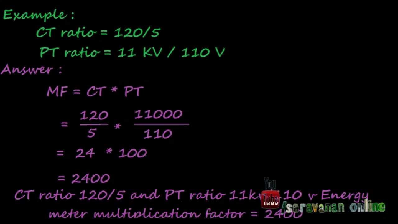 how to calculate energy meter multiplication factor electrical videos [ 1280 x 720 Pixel ]