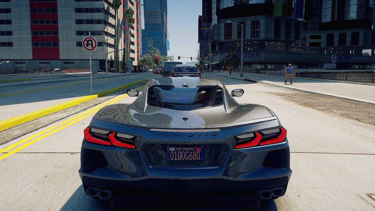 2020 Chevrolet Corvette C8 - GTA 5 | NaturalVision Evolved | Racing wheel gameplay