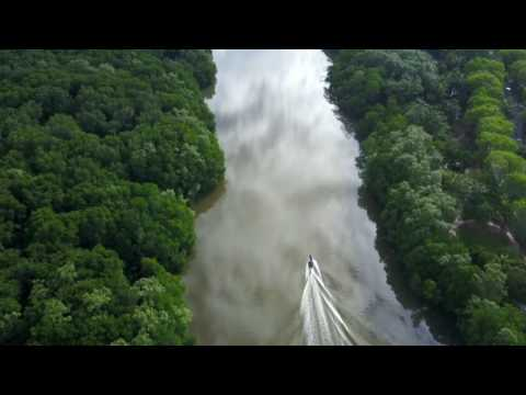 Amateur drone footage in Brunei, borneo, monkeys and the river