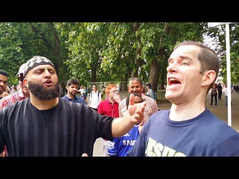 Ex-Homeless Preacher - In Courage Muslims - Speakers Corner Hyde Park London 9-7-17. (1)